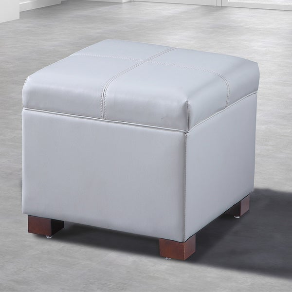 Royal Comfort Collection Traditional Leather Storage Cube with Hinge & Shop Royal Comfort Collection Traditional Leather Storage Cube with ...
