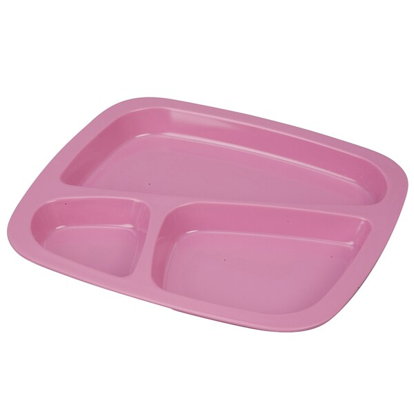 Pink Three-Section Tray