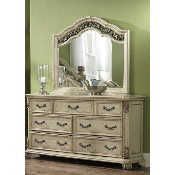 Liberty Antique Ivory 7 Drawer Dresser And Mirror Set