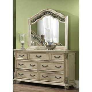 Messina Estates II Antique Ivory 7-drawer Dresser and Mirror Set