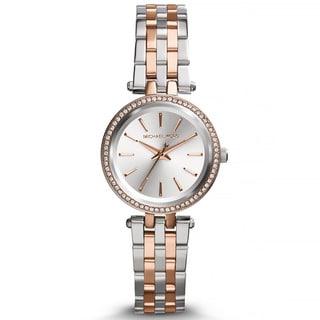 Michael Kors Women's MK3298 Petite Darci Two-tone Crystal Bezel Watch