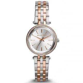Michael Kors Women's Petite Darci Two-tone Crystal Bezel Watch
