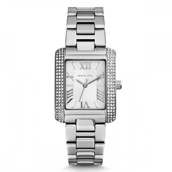 7abb7bd3751d Michael Kors Women  x27 s MK3289 Petite Emery Silver-tone Crystal Accent  Watch