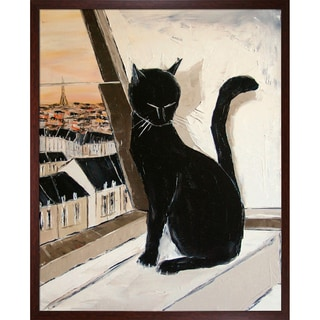 Atelier De Jiel 'Black cat is a Paris'Mmaster Framed Fine Art Print