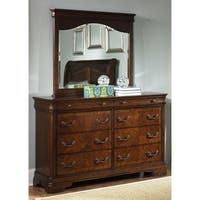 Autumn Brown 8-drawer Dresser and MIrror Set