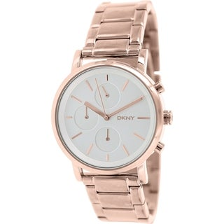 Dkny Women's NY2275 Rose goldtone stainless steel Quartz Watch with Silver Dial