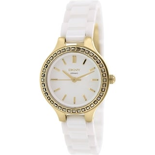 Dkny Women's NY2250 White Ceramic Quartz Watch with White Dial