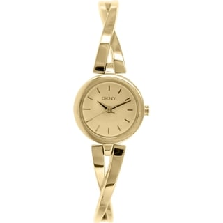 Dkny Women's Crosswalk NY2170 Gold Stainless-Steel Quartz Watch with Gold Dial