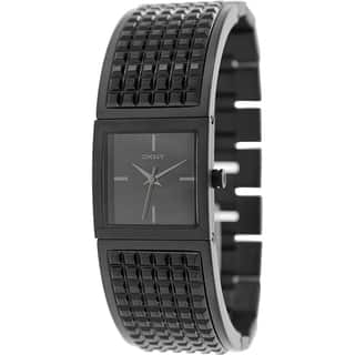 DKNY Women's Bryant NY2233 Black Stainless-Steel Quartz Watch with Black Dial|https://ak1.ostkcdn.com/images/products/9614146/P16798887.jpg?impolicy=medium