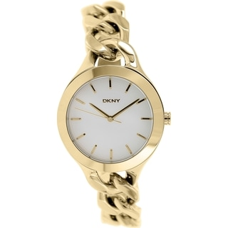 Dkny Women's Chambers NY2217 Gold Stainless-Steel Quartz Watch with Silver Dial