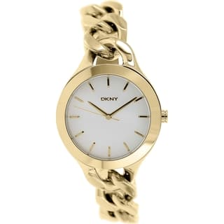 DKNY Women's Chambers NY2217 Gold Stainless-Steel Quartz Watch with Silver Dial|https://ak1.ostkcdn.com/images/products/9614151/P16798891.jpg?impolicy=medium