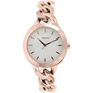 DKNY Women's Chambers NY2218 Rose goldtone stainless steel Quartz Watch with White Dial|https://ak1.ostkcdn.com/images/products/9614152/P16798892.jpg?impolicy=medium