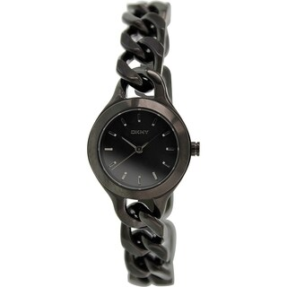 Dkny Women's Chambers NY2215 Black Stainless-Steel Quartz Watch with Black Dial