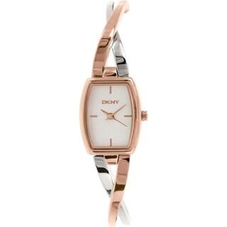 DKNY Women's Crosswalk NY2236 Two-tone Stainless Steel Analog Quartz Watch