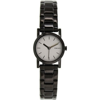 DKNY Women's Soho NY2189 Black Stainless-Steel Analog Quartz Watch with Silver Dial