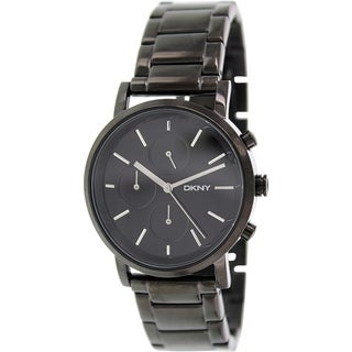 Dkny Women's NY2276 Black Stainless-Steel Quartz Watch with Black Dial