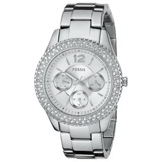 Fossil Women's Stella ES3588 Silver Stainless-Steel Quartz Watch with Silver Dial|https://ak1.ostkcdn.com/images/products/9614166/P16798905.jpg?impolicy=medium