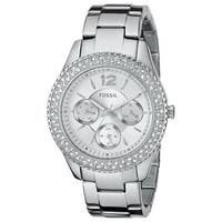 Fossil Women's Stella ES3588 Silver Stainless-Steel Quartz Watch with Silver Dial