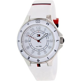 Tommy Hilfiger Women's 1781271 White Silicone Quartz Watch with White Dial