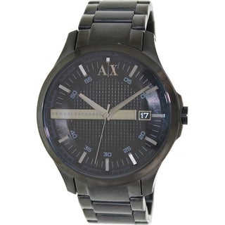 Armani Exchange Men's AX2104 Black Stainless-Steel Quartz Watch with Black Dial