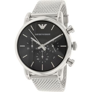 Emporio Armani Men's Classic AR1811 Silver Stainless-Steel Quartz Watch with Black Dial|https://ak1.ostkcdn.com/images/products/9614231/P16798964.jpg?impolicy=medium