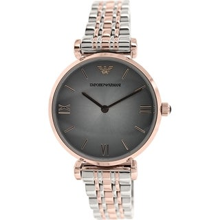 Emporio Armani Women's Retro AR1725 Two-tone stainless steel Analog Quartz Watch with Grey Dial