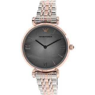 Emporio Armani Women's Retro AR1725 Two-tone stainless steel Analog Quartz Watch with Grey Dial|https://ak1.ostkcdn.com/images/products/9614246/P16798978.jpg?impolicy=medium