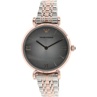 Emporio Armani Women's Retro AR1725 Two-tone stainless steel Analog Quartz Watch with Grey Dial