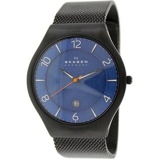 Skagen Men's SKW6147 Black Stainless-Steel Quartz Watch with Blue Dial