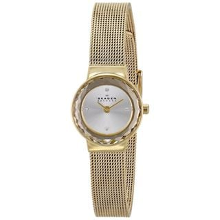 Skagen Women's Leonora SKW2186 Gold Stainless-Steel Quartz Watch with Silver Dial