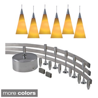 Jesco 6-light 300-watt Low Volt Complete Monorail Pendant Kit