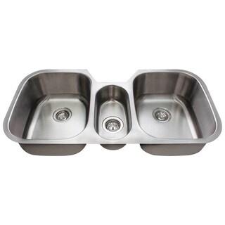 Polaris Sinks P1254-18 Triple Bowl Kitchen Sink
