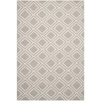 Safavieh Hand-woven Moroccan Dhurries Grey/ Ivory Wool Rug - 6' x 9'