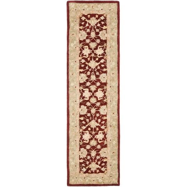 Safavieh Handmade Anatolia Oriental Tan/ Ivory Hand-spun Wool Rug - 2'3 x 6'