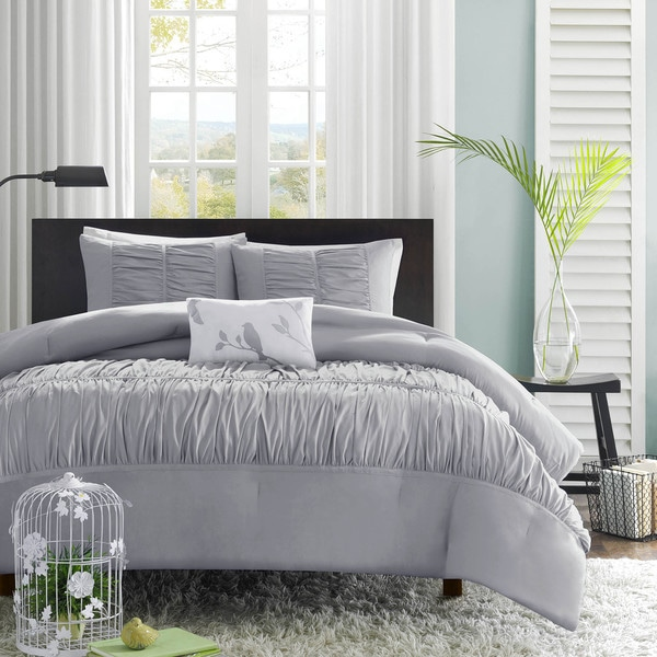 Mi Zone Delia Grey Comforter Set