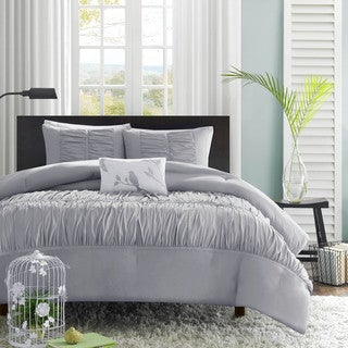 Mi Zone Delia Grey 4-piece Comforter Set