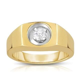 10k Yellow Gold 1/3ct TDW Solitaire Brilliant Diamond Ring|https://ak1.ostkcdn.com/images/products/9614483/P16799829.jpg?impolicy=medium