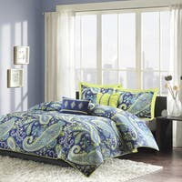 The Curated Nomad Stanyan Blue Paisley 5-piece Comforter Set