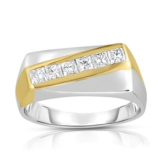 18k Two-tone Gold 3/4ct TDW 6-Stone Diamond Ring (I-J, SI1-SI2)