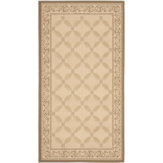 Safavieh Indoor/ Outdoor Courtyard Beige/ Dark Beige Rug (2'7 x 5')