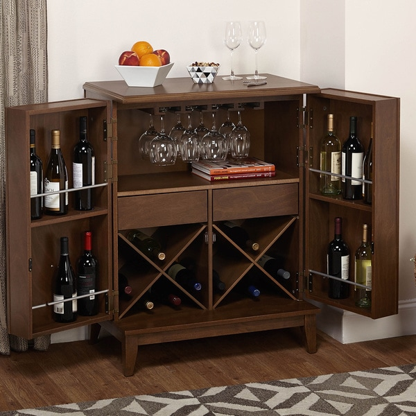 Simple Living Lexington Wine Cabinet   Free Shipping Today   Overstock.com    16799878