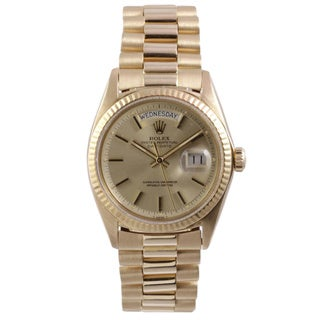 Pre-Owned Rolex Men's President Yellow Gold Champagne Dial Watch