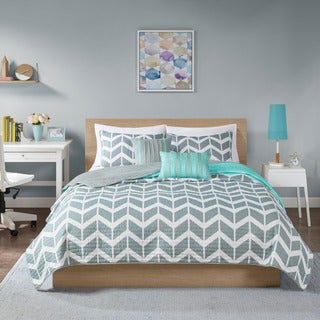 Intelligent Design Ella Teal Coverlet Set