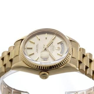 Pre-Owned Rolex Men's President Yellow Gold Champagne Dial Fluted Watch