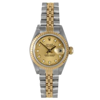 Pre-Owned Rolex Women's 6900 Datejust Two-tone Datejust Champagne Diamond Dial Watch