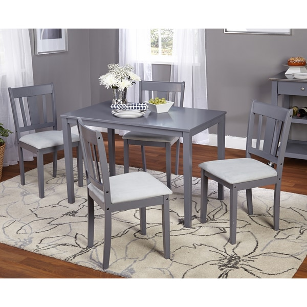 Simple Living 5pc Stratton Grey Dining Set Free Shipping