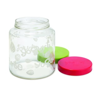 Euro Cuisine GY85 two-quart glass jar with lids (set of 2)