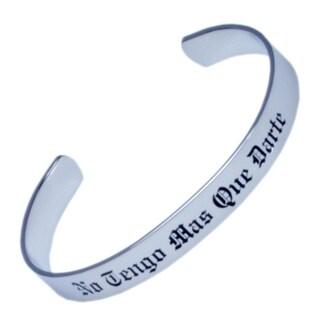 Stainless Steel No Tengo Mas Que Darte Cuff Bracelet