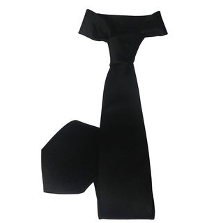 Ike Evening by Ike Behar Black Neck Tie
