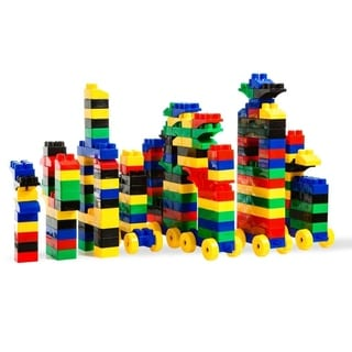 DimpleChild 150 Piece Building Bricks Set with Carry Bag